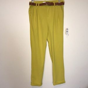 Pants - 🔹Fashion House Yellow Belted casual Pants
